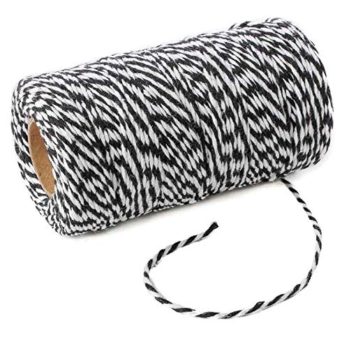 Factory Direct Craft Black and White Bakers Twine | 2 Pieces
