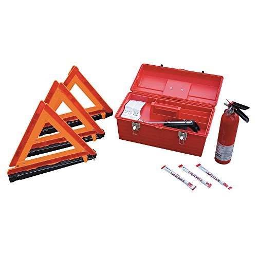 Cortina 95-04-09G Roadside Emergency Kit, 8 Piece, Red
