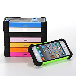2 in 1 Heavy Duty Shock Proof Rugged Hard Case Cover With Stand For iPhone 5/5S(Blue)