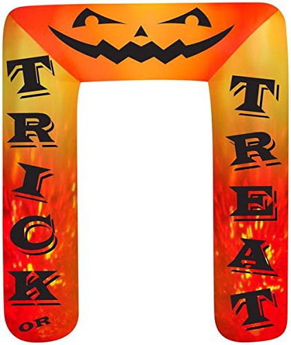 8' Airblown Archway Kaleidoscope Trick or Treat Halloween Inflatable]()
