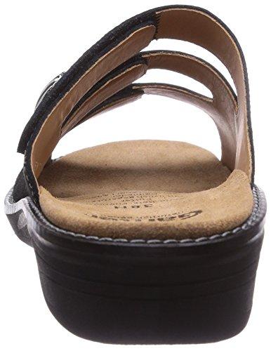 Ganter HERA, Weite H - zuecos de cuero mujer gris - Grau (schwarz 0100)