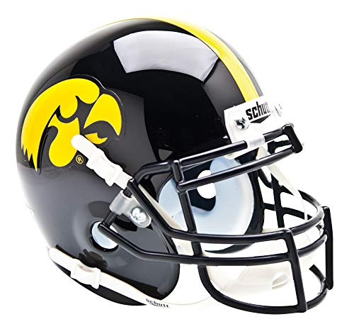 Schutt NCAA Mini Authentic XP Football Helmet, Iowa Hawkeyes