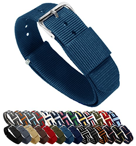 BARTON NATO Style Straps - Choice of Color, Length & Width (18mm, 20mm,...