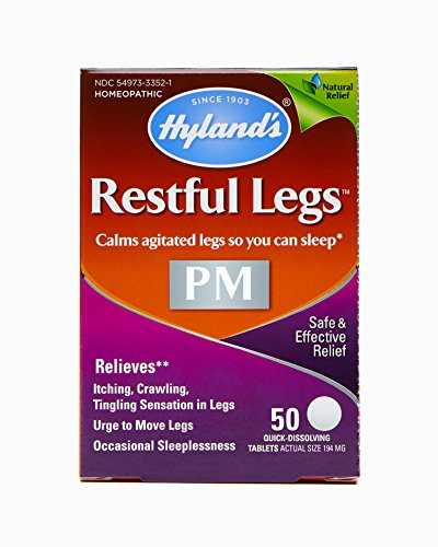Hyland's Restful Legs PM, Restless Leg Syndrome Relief RLS, Natural Itching, Crawling, Tingling and Leg Jerk Treatment, 50 Tablets by Hyland's Homeopathic