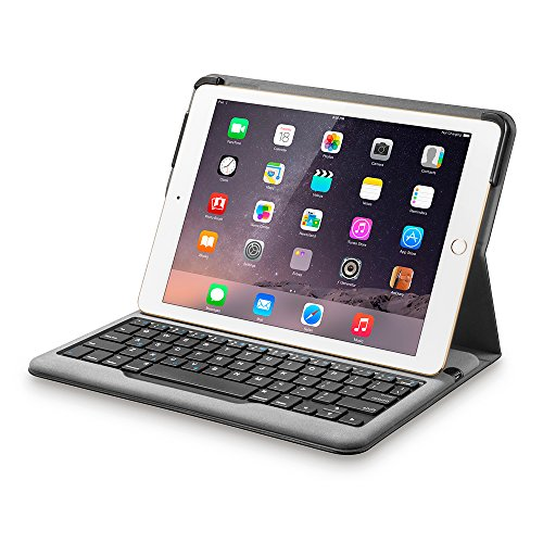 (Anker Bluetooth Folio Keyboard Case for iPad Air 2 [ONLY] - Smart Case with Auto Sleep/Wake, Comfortable Keys and 6-Month Battery Life Between Charges (Not compatible with iPad 9.7 inch/iPad Air))