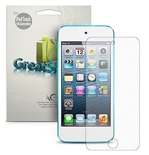 GreatShield Ultra anti-Glare (Matte) Screen Protector Film for Apple iPod Touch 5 5th Generation 2012 (3 Packs) - LIFETIME WARRANTY