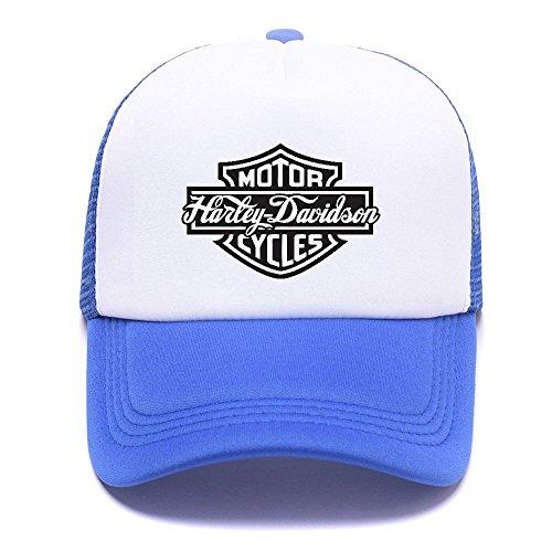 Harley D Black Baseball Caps Gorras de béisbol Trucker Hat Mesh Cap For Men Women Boy Girl 002 Blue
