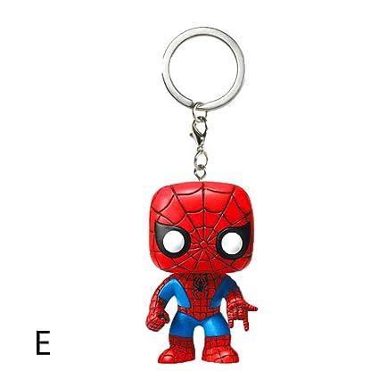 Lincong Llaveros Marvel Bolsa Accesorios Joyas Capitán América Hulk Spiderman Hand