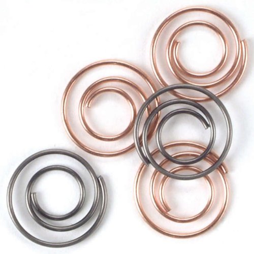 Spiral Paper Clip - Metal Mini Spiral Clips 25/Pkg-Antique & Copper