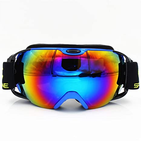 e9f56706f75b vcuqoa Ski Goggles Double Layers Anti-Fog Big Ski Mask Glasses Skiing Men  Women Snow