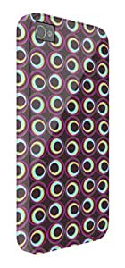 Abstract Circles Pattern iPhone 5 / 5S protective case (image shows iPhone 4 example)