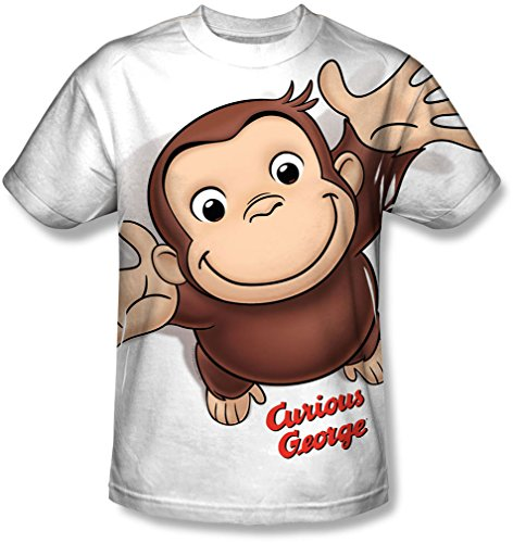 - Youth: Curious George- Hands In The Air Kids T-Shirt Size YM