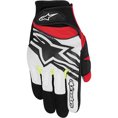 Alpinestars Spartan Men's Street Motorcycle Gloves - Black/White/Yellow/Red / Medium