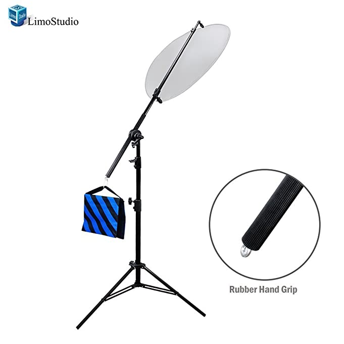 LimoStudio Photo Studio Lighting Reflector Arm Stand Reflector Stand Holder Boom Arm, AGG812