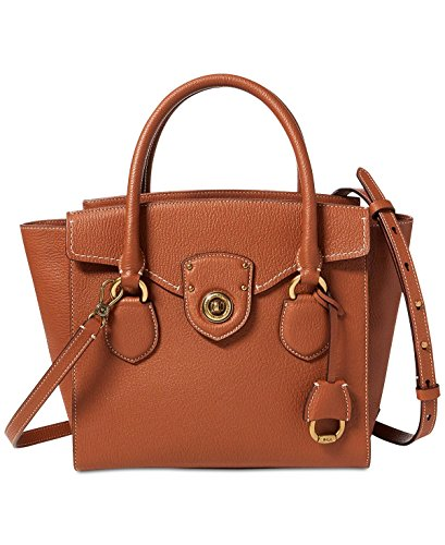 Lauren Ralph Lauren Millbrook Medium Satchel (Tan)