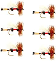 The Fly Fishing Place Royal Trude Classic Trout Dry Fly Fishing Flies - Set of 6 Flies Size 12