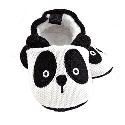 Bumud Baby Infant Toddler Cartoon Animal Soft Sole Crib Shoes Slippers Prewalker (0-6 Months, Panda)