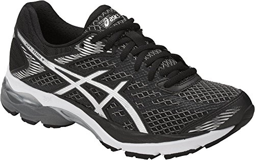 ASICS Women's Gel-Flux 4 Running-Shoes, Black/Silver/Carbon, 7.5 Medium US Womens Air Gel Carbon