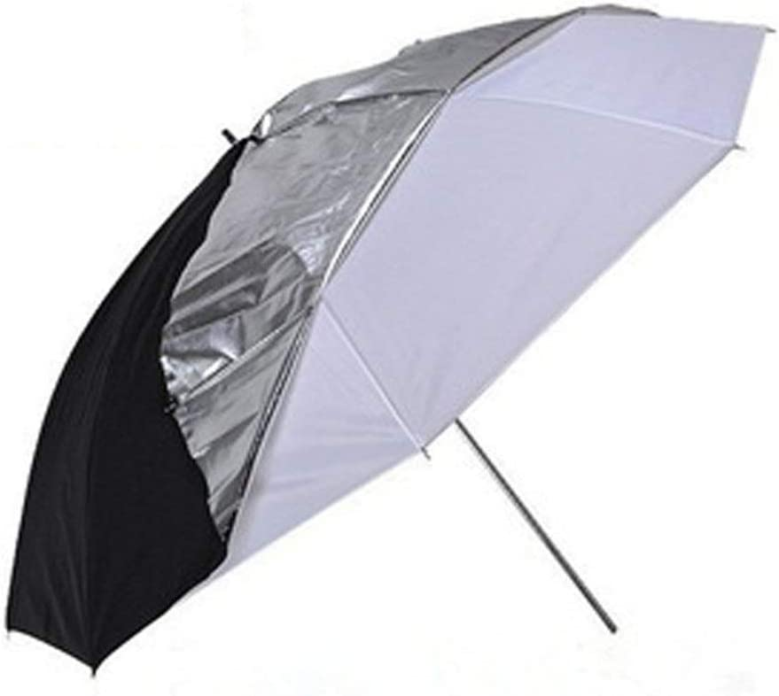 Photo Studio reflector diffuser kit 43 Inch 110cm 2 In 1 Detachable Multi-function Black//Silver Reflector Umbrella For Lighting Outdoor Portrait Video Recording Color : As shown , Size : Free