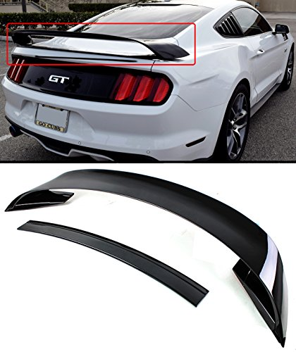Cuztom Tuning Fits for 2015-2019 S550 Ford Mustang GT350 Style Painted Black Rear Trunk Spoiler Wing