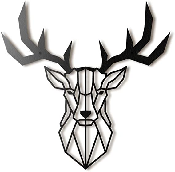 Texas  Metal Art  TWS DEER HEAD