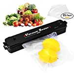 Moer Sky Vacuum Sealer Machine, Automatic Mini Portable Home Vacuum Air Sealing System