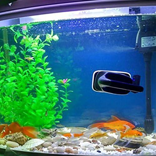 Newcomdigi Brosse Magn/étique Aquarium Nettoyage Aquarium Brosse Flottant Anti-algue Accessoire pour Aquarium Taille L