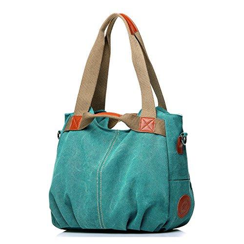 NOTAG Messenger Shoulder Large Mulit Women's Top Casual Handbags Tote Pocket Canvas Green Handle Handbag Daily Shoulder Shopping Bags Purse Hobo Bag Shopper rrF6qPfw