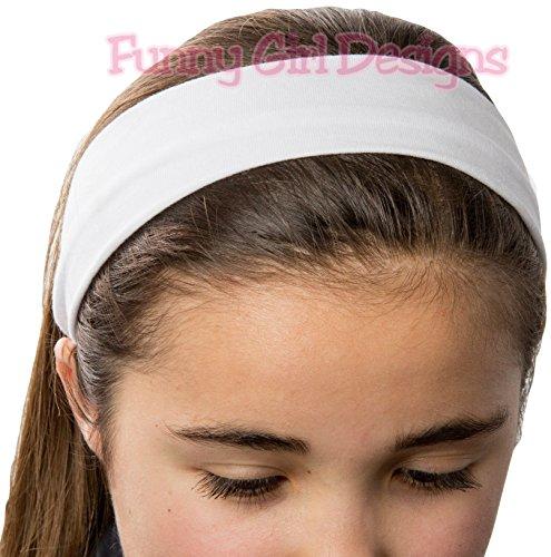 1 DOZEN 2 Inch Wide Cotton Stretch Headbands OFFICIAL FUNNY GIRL DESIGNS HEADBANDS (Official Funny Girl Maroon) by Funny Girl Designs (Image #3)