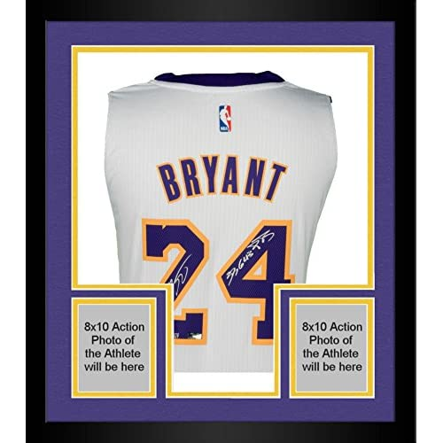 Framed Kobe Bryant Los Angeles Lakers Autographed White Adidas ...
