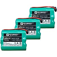 Panasonic P-P504 Cordless Phone Battery Combo-Pack includes: 3 x SDCP-H338 Batteries