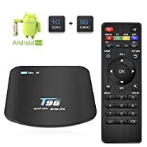 Android 7.1 TV Box, R&T Smart Media Box 1GB RAM 8GB ROM Amlogic Quad Core A53 Processor 32 bits