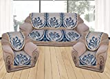 Yellow Weaves™ 6 Piece Aqua Blue Sofa & Chair Cover Set