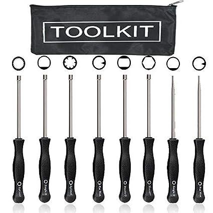 HOOAI Carburetor Adjustment Tool Kit for Common 2 Cycle Carburator Engine -  Carburetor Adjustment Tool Set Carburetor Tune up Adjusting Tool (8pcs)