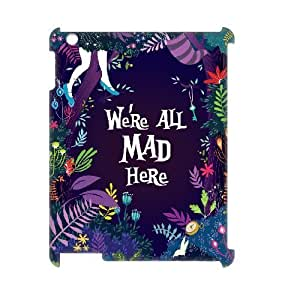 3D We're All Mad Here Purple Floral Print IPad 2,3,4 Case White by icecream design