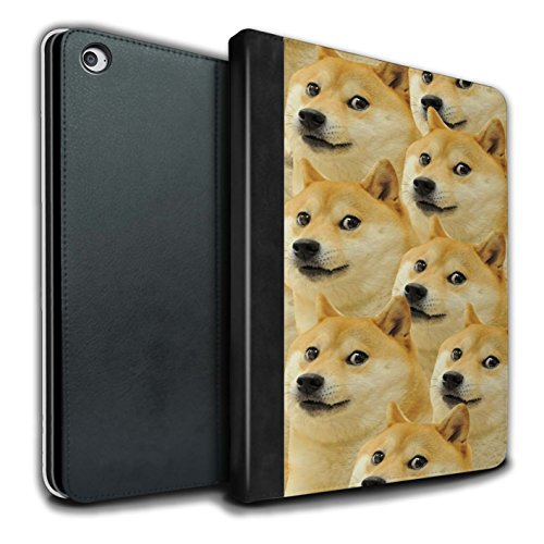 STUFF4 PU Leather Book/Cover Case for Apple iPad Air 2 Tablets/Art Collage Design/Funny Shibe Doge Meme Collection
