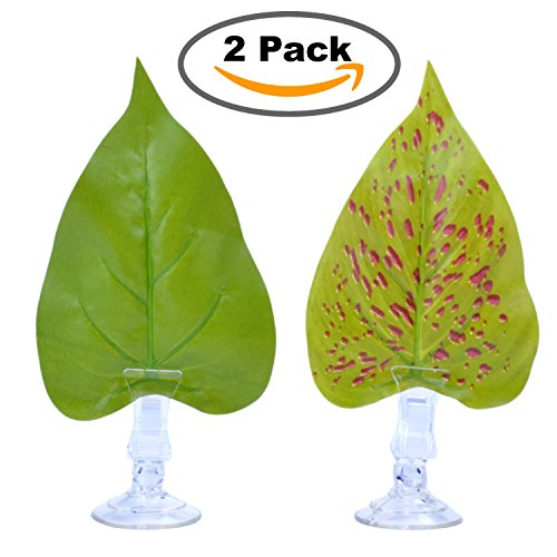 pranovo 2 Pack Betta Hammock Plant Leaf Pad Fish Spawning