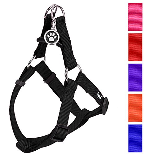 No Pull Dog Harness Adjustable Basic Nylon Step in Puppy Vest Outdoor Walking Chest Girth 15.6