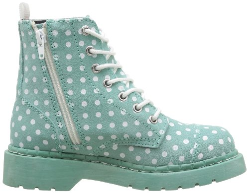 Tuk mint Boot 7 Eye Polka Vert Combat Boots Womens Anarchic White Dots YvrEqwY