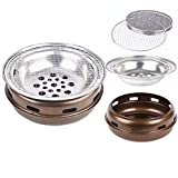 MEI XU Barbecue Grill BBQ Grill - Korean Carbon Barbecue Round Barbecue Stove Korean Charcoal Baking Tray Commercial Charcoal fire Barbecue Home Barbecue Pot (Edition : A)