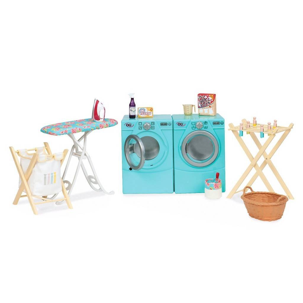 Amazon.com: Our Generation Dolls Tumble and Spin Laundry Set for ...