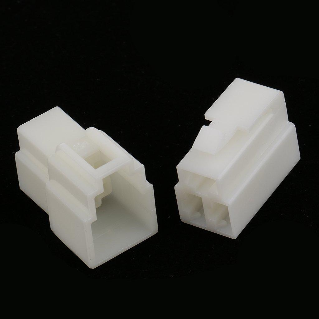 kesoto 10 Kits Coche Macho Hembra 3 V/ías Pin 6.3mm Conectores De Bloqueo Plug \u0026 Socket