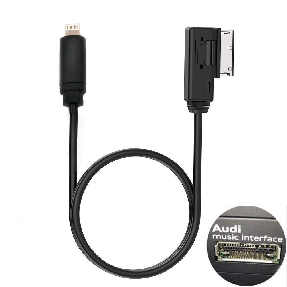 ELONN Compatilbe iPod iPhone AMI Cable Replacement for Audi 4F0051510F 3.5mm Jack AMI Cable