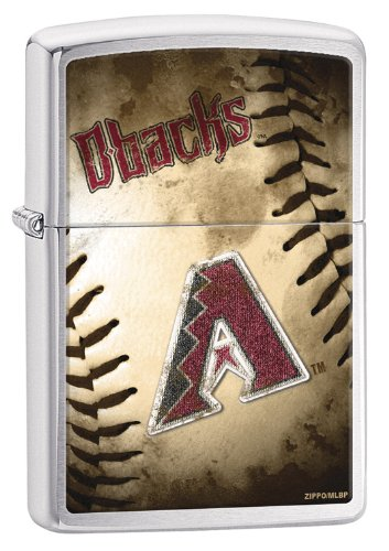 Zippo MLB Arizona Diamondbacks Brushed Chrome Lighter (Arizona Zippo)