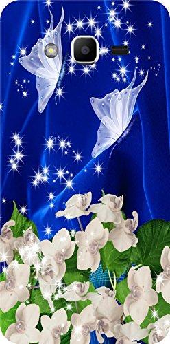 shengshou flowers design mobile back cover for samsung galaxy j2 prime 2016   blue white   Blue; White