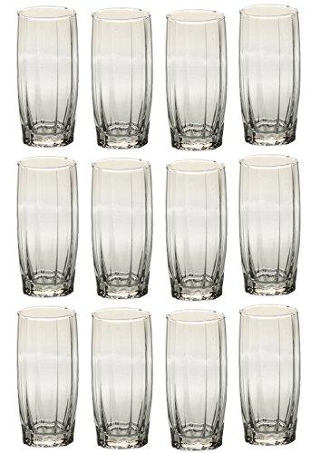 Somil New Clear Transparent Drinking Glass Set of Twelve, Multipurpose