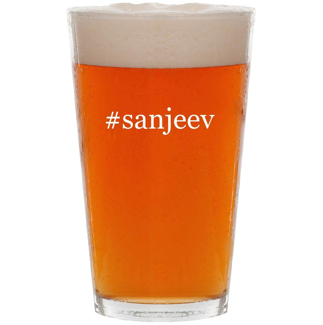 #sanjeev - 16oz Hashtag Pint Beer Glass