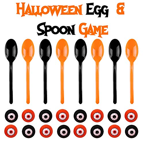 THE TWIDDLERS Halloween Relay Game - 8 Eggs and 8 Spoons Fun Activities Ideal for Parties, Pinata & -