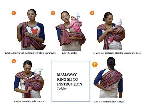 Mamaway Baby Ring Sling Carrier Birth To 3 Yr Breastfeeding