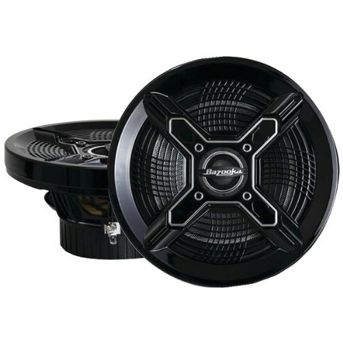 Bazooka Mac8100b Marine Coaxial Speakers (8; Black)